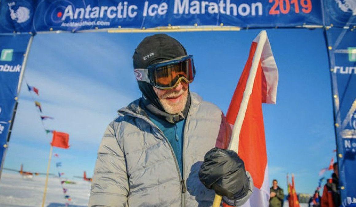 84 años y un maratón... ¡en la Antártida!