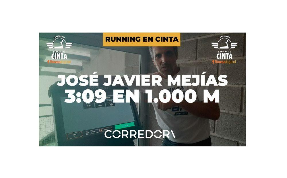 José Javier Mejías, 3:09 en 1.000 metros en el desafío de running en cinta fitnessdigital